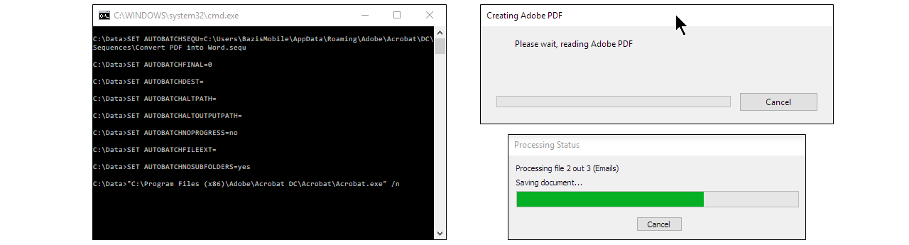 Batch Conversion of Files Into PDF Format